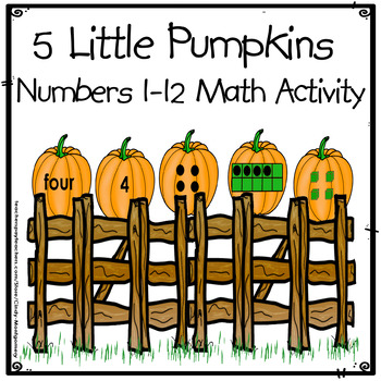 5 Little Pumpkins Math Activity: numbers 1-12, number word