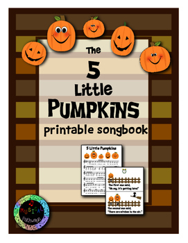 5 Little Pumpkins Songbook in 2 sizes!