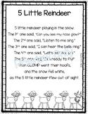 5 Little Reindeer - Christmas Poem for Kids