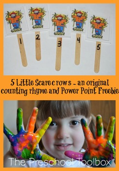5 Little Scarecrows - Original Fall Counting Poem and Power Point