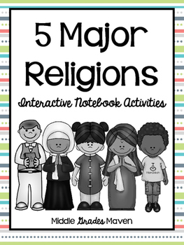 5 Major Religions-Interactive Notebook Activities