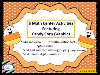 Math Centers with Candy Corn Theme