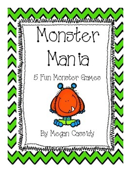 5 Monster Mania Games- Customizable