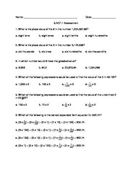 5.NBT.1 Assessment