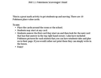 5.NBT.1 Pokémon Scavenger Hunt