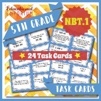 5.NBT.1 Task Cards: Place Value Task Cards 5.NBT.1 (Unders