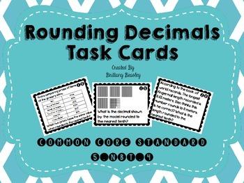 5.NBT.4 Rounding Decimals Task Cards