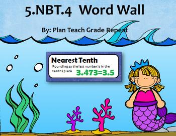 5.NBT.4 (Rounding Decimals) Word Wall