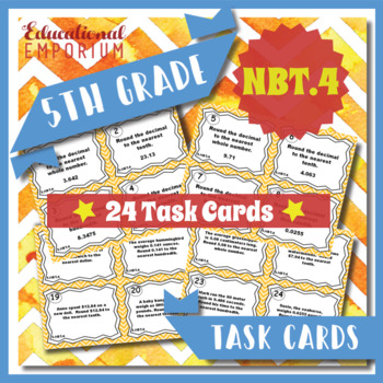 5.NBT.4 Task Cards 5.NBT.4: Rounding Decimals Task Cards f