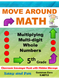 Multiplying Multi-digit Whole Numbers Scavenger Hunt: 5.NB
