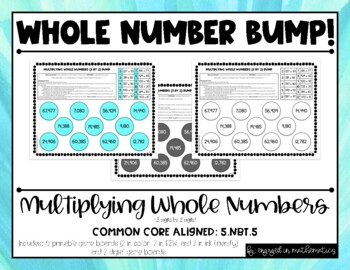 5.NBT.5 Multiplying Whole Numbers BUMP! **Differentiated**