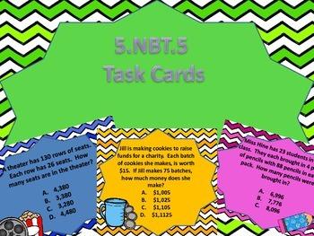 5.NBT.5 Task Cards