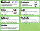 5.NBT.7 (Add, subtract, multiply, divide decimals) Word Wall