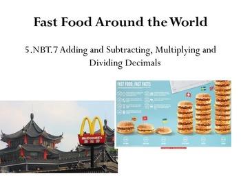 5.NBT.7 Fast Food Around the World