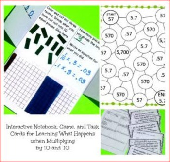 5.NBT.A.1 -Three Activities For How Digits Change When Mul