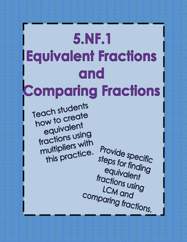 5.NF.1 Equivalent Fractions and Comparing Fractions