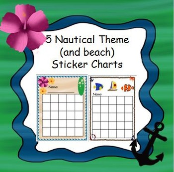 5 Nautical and Beach Theme Reward Charts