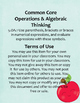 5.OA.1 (Order of Operations) Homework