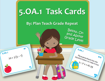 5.OA.1 (Order of Operations) Task Cards