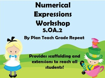 5.OA.2 (Numerical Expressions) Math Center/Workshop