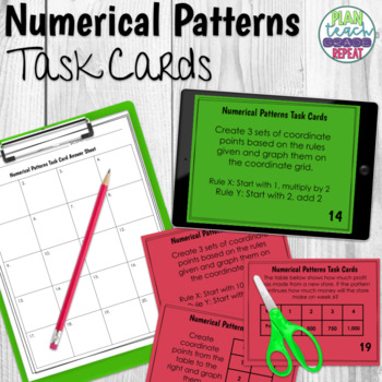 5.OA.3 (Numerical Patterns) Task Cards