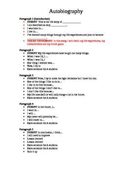 5 Paragraph Essay - AUTOBIOGRAPHY