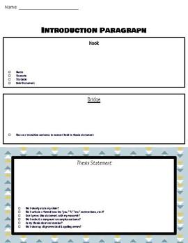 5 Paragraph Essay Map