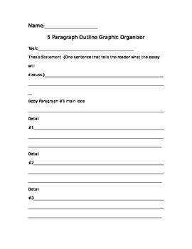 5 Paragraph Graphic Organizer-Outline