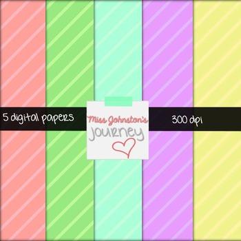 5 Pastel Digital Papers {Freebie}