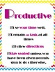 5 Ps Class Rule System - Chevron Style - Posters, Anchor C