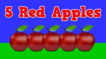 5 Red Apples (video)