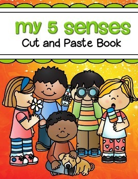 5 Senses Cut and Paste Coloring Book