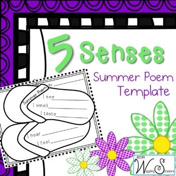 5 Senses 4 Seasons Summer Poem