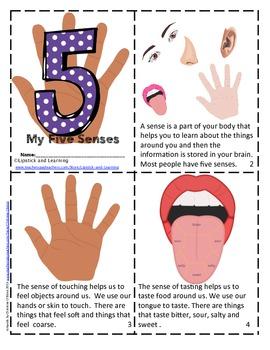 5 Senses Mini Book       My Five Senses      The Five Sens