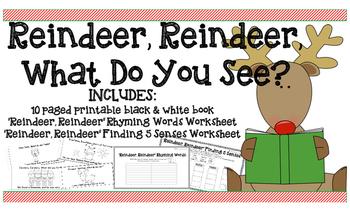 Christmas Printable Book Rhyming & 5 Senses