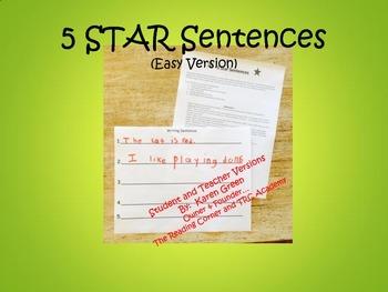 5 Star Sentences (Easy)