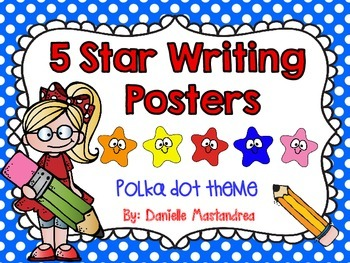 5 Star Writing Poster Set