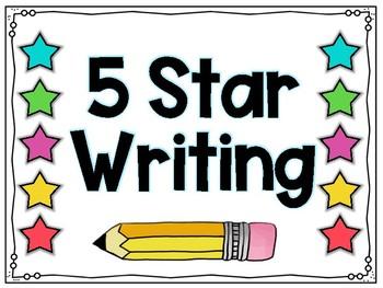 5 Star Writing in Kindergarten by Under the Alphabet Tree ...
