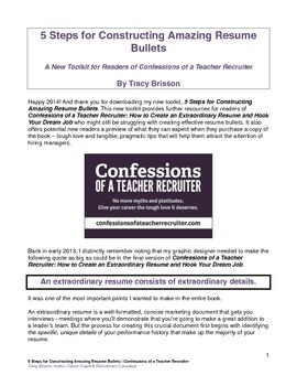 5 Steps for Constructing Amazing Resume Bullets