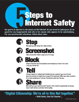 5 Steps to Internet Safety Poster