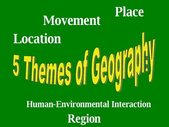 5 Themes of Geography FULL 90 Minute Lesson Plan