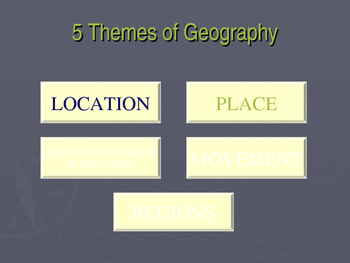 5 Themes of Geography P.P.