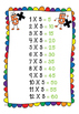5x Multiplication Facts PowerPoint, Flash Cards, Posters,