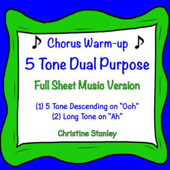 5 Tone Descending Chorus and Vocal Warm-up ♫ Dual Purpose