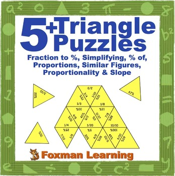 5 Triangle Puzzles for Middle School Math Ratios & Proport
