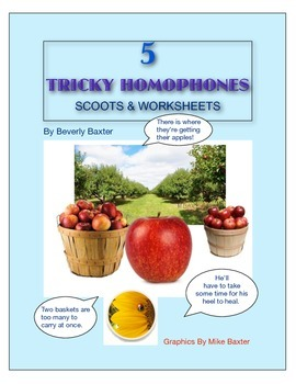 5 Tricky Homophone Scoots & Worksheets