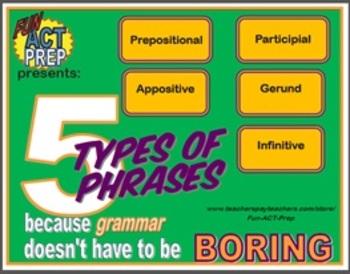 5 Types of Phrases:Gerund, Infinitive, Participial, Prepos