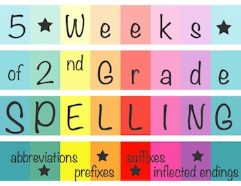 5 Weeks of 2nd Grade Spelling - Prefix, Suffix, Abbreviati