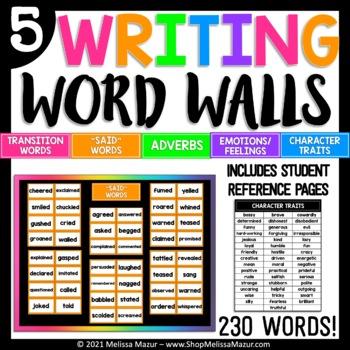 5 Writing Word Walls