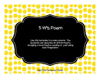 5 W's Poem